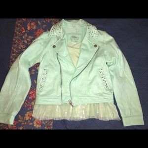 Justice Biker jacket with shirt size 6/7
